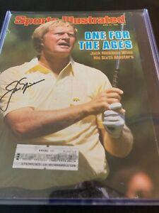Jack Nicklaus signed Sports Illustrated Magazine 4/21/86 Masters Golf