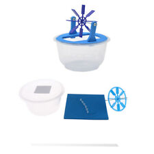 DIY Assembly Plastic Water Wheel Toy Model Kids Student Science Experiment