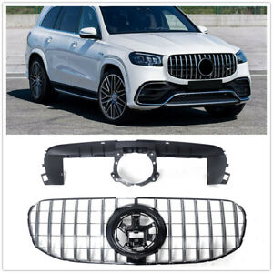 For Mercedes Benz X167 GLS 2020 2021 Front Grille Mesh Grill Bar Vent Trim GT