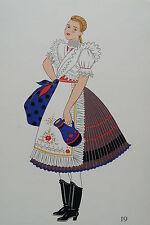 -2-5-19 Gravure costume de jeune fille de Bujak Hongrie