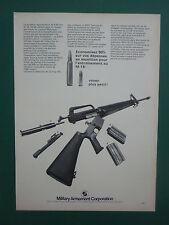 1970'S PUB MILITARY ARMAMENT MAC COLT M16.22 LR TRAINING KIT ORIGINAL FRENCH AD