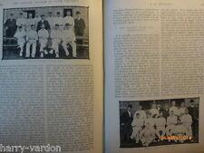 Vecchia FOTO ARTICOLO 1904 LEGA sistema Club Cricket Accrington ENFIELD Chiesa CC