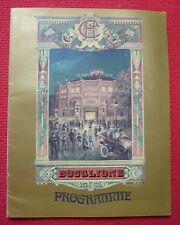 Programme de cirque de Bouglione au Cirque d'Hiver, 1975
