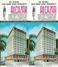Alcazar Hotel Miami Florida Vintage 1950s Travel Brochure/Pamphlet
