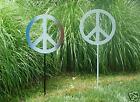 Large Lawn Stake Metal Peace Sign Patriotic Colors