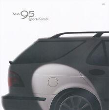 Saab 95 Sport Kombi Prospekt 2003 Autoprospekt PKWs brochure Auto Broschüre