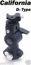 D-Type Flash Shoe Umbrella Light Stand Holder Tripod Bracket Mount D Type Hot