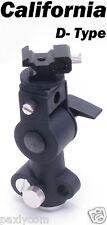 "D Type Flash Shoe Umbrella Holder Light Stand Tripod Bracket 1/4""- 3/8"" D-Type"