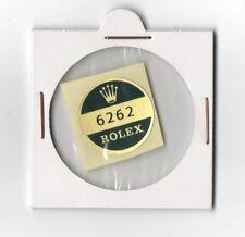 ROLEX 6262 FONDELLO Adesivo certificato vintage anni 1960 Daytona Paul Newman n.a.s