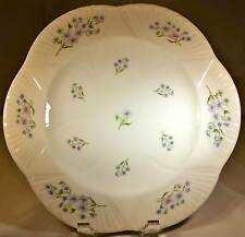 "SHELLEY ENGLAND FINE BONE CHINA BLUE ROCK DAINTY 10-7/8"" DIAMETER DINNER PLATE!"