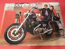 """1985 Honda VT1100 C - """"Shadow 1100"""" Motorcycle Sales Brochure - Literature"""