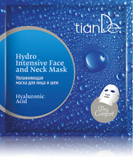 TianDe Hyaluronic Acid Hydro Intensive Face and Neck Mask, Skin Hydration 1sheet