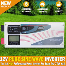 NEW 12V 3000 - 9000W Inverter Charger Pure Sine Wave DC Caravan Motorhome