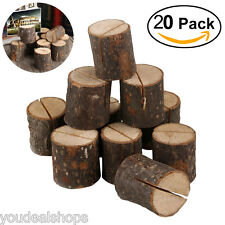 20pcs Wedding Table Place Number Name Card Wooden Rustic Stand Holder Decor