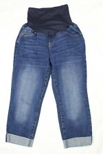 Old Navy Maternity Jeans Capri Stretch Cuffed Denim Women's Size 6