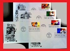 ZAYIX - U.S. - FDC - 1995 Recreational Sports - Golf / Volleyball / Bowling