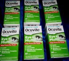 (6)Bausch + Lomb OCUVITE Eye + Multi With Lutein & Zeaxanthin 60 Tablets each