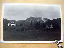 OLD REAL PHOTO-PC: INDONESIA~BRASTAGI~SUMATRA~SIBAYAK~VULCANO~HOTEL~ca 1924
