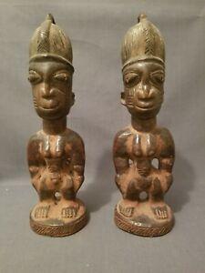 Authentic, Old Oshogbo Oyo Ibeji Male & Female, Yoruba /Nigeria / Santeria