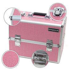 DynaSun BS35 XXL Rosa Beauty Case Crocodile Pattern Leather Vanity Case Makeup