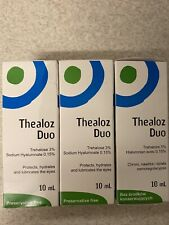 Thealoz Duo Eye Drops 10ml Spectrum Thea Preservative Free Dry Eyes Pack of 3