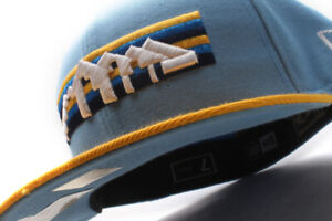 New Era Denver Nuggets NBA Blue Yellow Fitted Cap OB