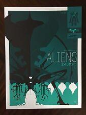Tom Whalen Aliens screen print variant Alien Poster Art