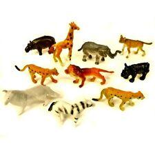 Pack of 30 Mini Plastic Jungle Animal Toys - Childrens Pocket Money Toys Fillers