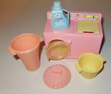 PLAYSKOOL HASBRO VINTAGE DOLLHOUSE KITCHEN LAUNDRY WASH DOLL HOUSE FURNITURE LOT