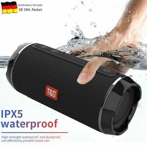 T&G Tragbar Wireless Bluetooth Lautsprecher Mini Speaker Stereo Soundbox AUX FM