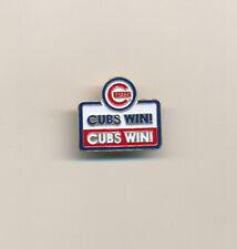Chicago Cubs Win! Cubs Win! MLB Baseball Pin