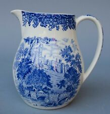 "Wedgwood Romantic England Queen's Ware Pitcher Haddon Hall VGC 5.75"" TALL"