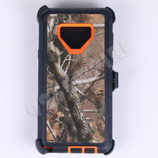 For Samsung Galaxy NOTE 9 Orange Tree Camo Defender Case w/Clip(Fits Otterbox)
