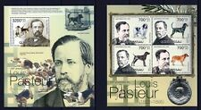 GUINE-BISSAU 2012 LOUIS PASTEUR CAES DOGS HUNDE DOMESTIC ANIMALS PETS STAMPS MNH
