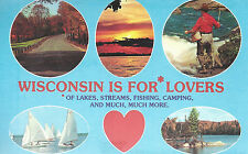 Wisconsin   Is For Lovers   WI   Postcard