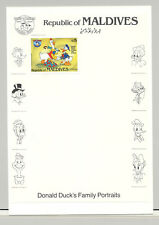 Maldives #1045a Disney 1v Imperf Proof Attached to M/S Background