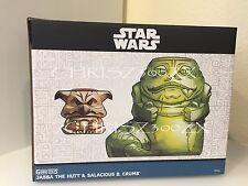 Star Wars Celebration 2017 Jabba The Hutt & Salacious Crumb Tiki Mug SET x2