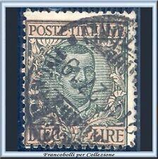 1910 Italia Regno Floreale L. 10 oliva e rosa n. 91 Usato