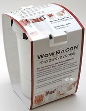 WOWBACON Microwave Crispy Perfect Bacon Cooker Turkey Protein Maker Cookware NEW