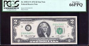 1976 $2 Federal Reserve **STAR** Note Philadelphia #C00434807* PCGS 66PPQ