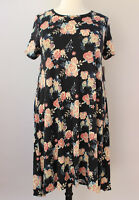 2XL LuLaRoe Carly Dress Beautiful Vintage Roses Black Pink Blush Cream NWT 441