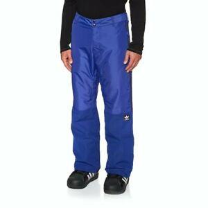 LOOK👀 Adidas Men's Riding Snowboard Ski Snow Pants Blue and Black Size XL NWT