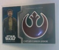 2016 TOPPS Star Wars Rogue One Captain Cassian Andor Rebel Patch 10 of 13