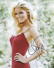 JESSICA SIMPSON SIGNED 8x10 PHOTO - UACC & AFTAL RD AUTOGRAPH