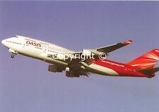 Oasis Hong Kong Boeing 747-412 B-LFA Departing Hong Kong China 2010 Postcard