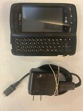 LG Ally -Verizon QWERTY Slider Keyboard Phone Black- Only works while plugged
