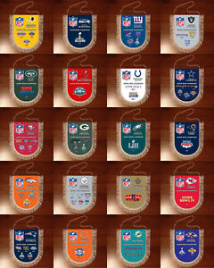 Pennants SUPER BOWL CHAMPIONS National Football League NFL USA 1966-2020
