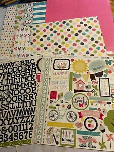 Echo Park, Splendid Sunshine, Lot of SEVEN Papers and Stickers