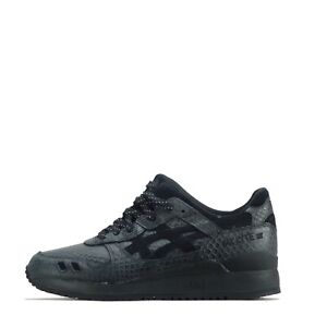Asics Gel Lyte III 3 Men's Trainers Shoes Sneakers Black/Black