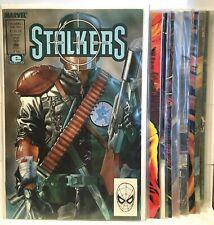 Stalkers #1-12 Full Run Set VF+ 1st Print Marvel Epic Comics 1990